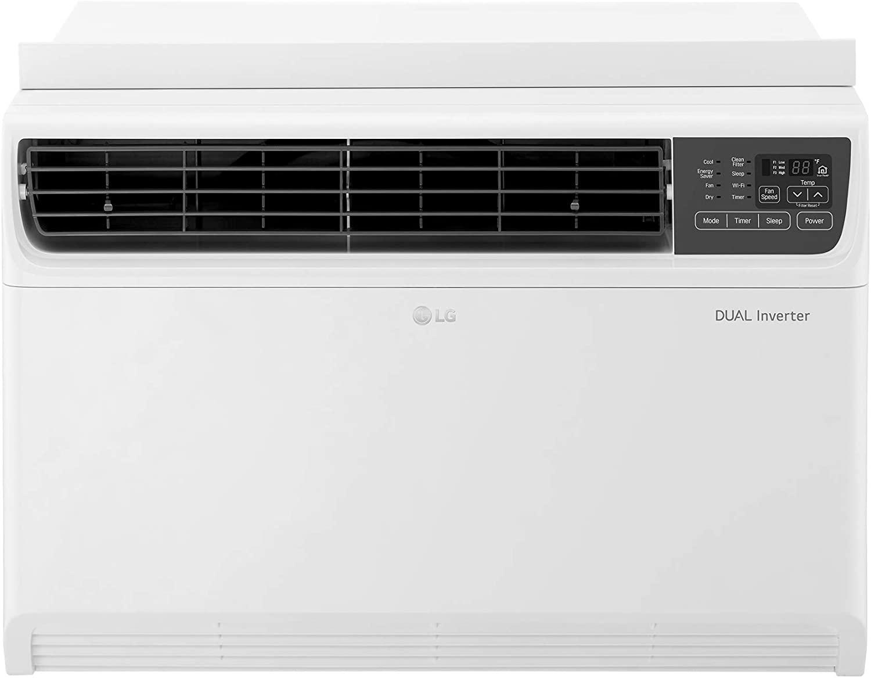 LG LW1817IVSM 18,000 BTU Dual Inverter Window Air Conditioner, 230V, Remote Control, White