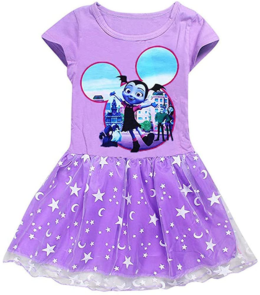 AOVCLKID Vampirina Costume Little Girls Dress up Toddler Baby Christmas Cosplay Outfit Kids Party Dress