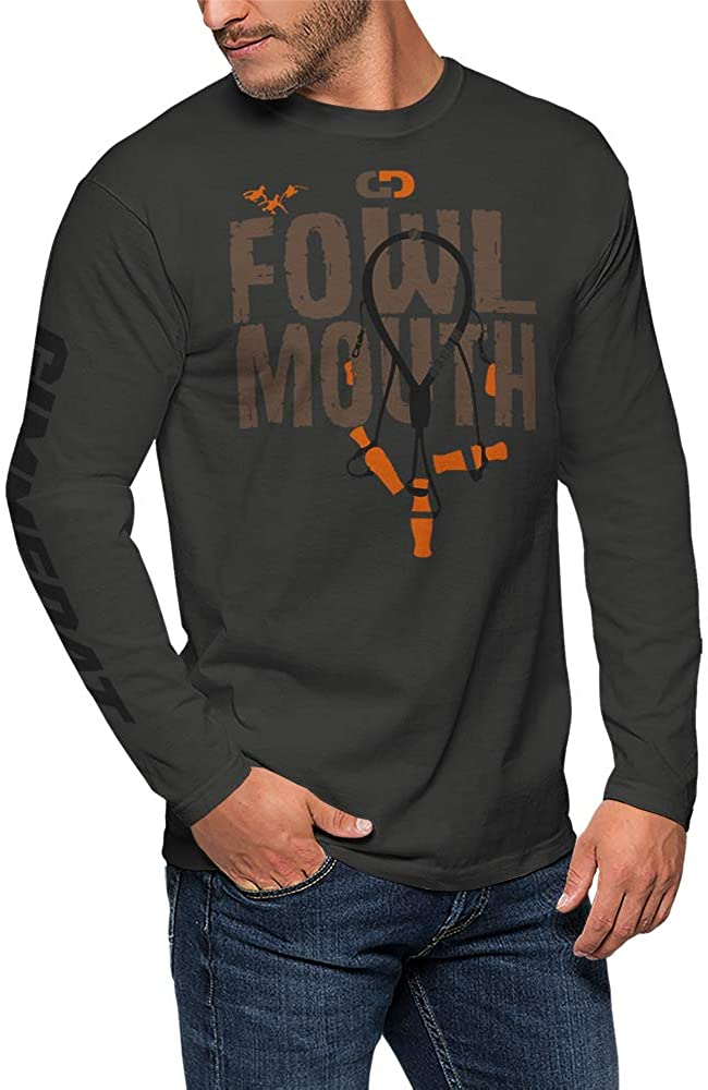 GIMMEDAT Fowl Mouth Long Sleeve Hunting Duck Hunting Shirt