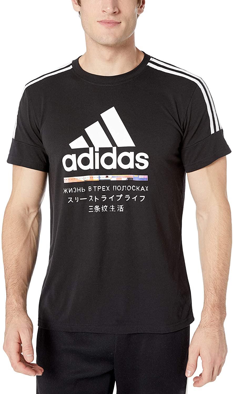 adidas Men's Global Citizens 3-stripes Tee