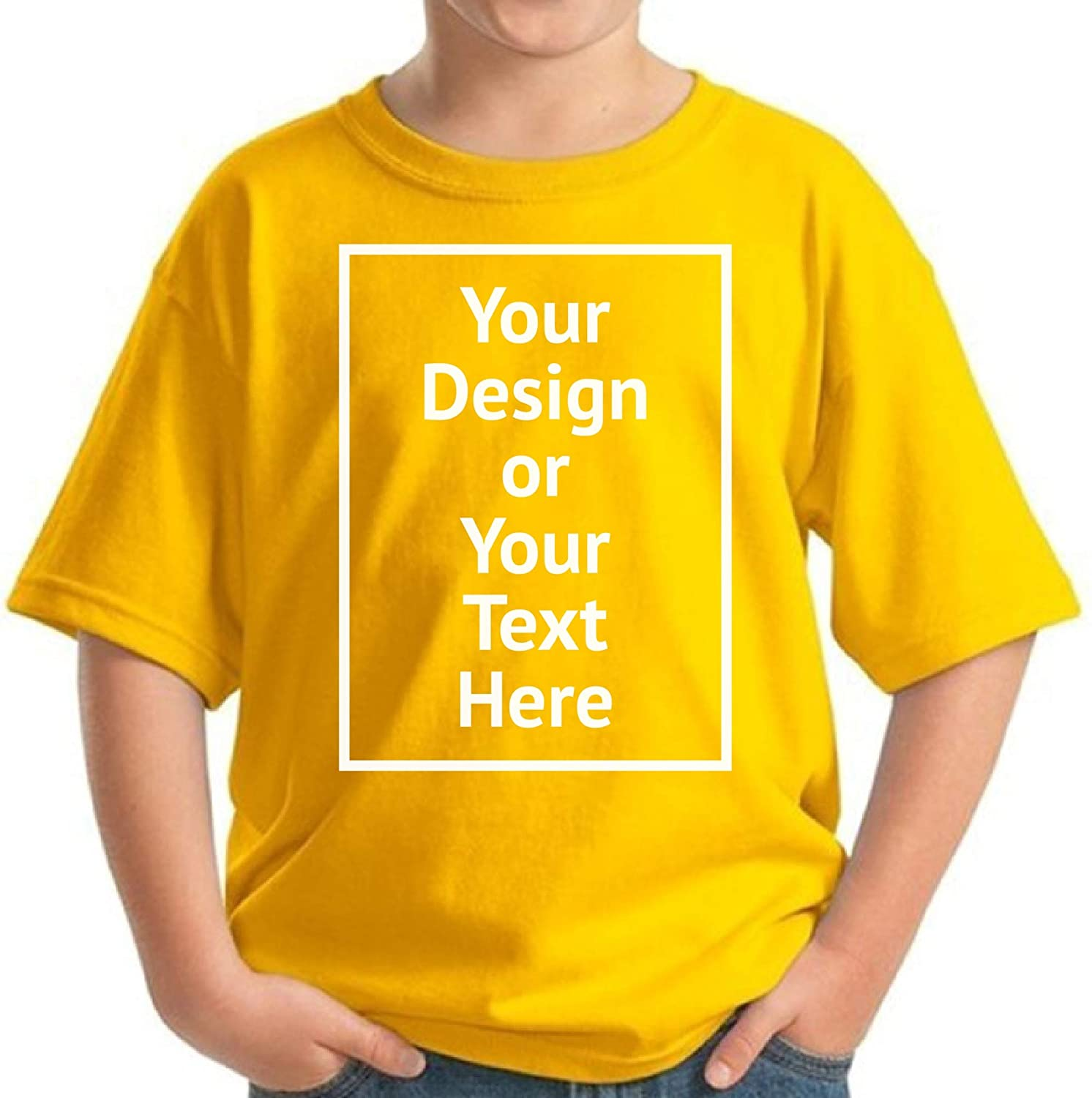 Custom Shirt for Kids Boys Girls Personalized Your Own Image Photo Text T-Shirt Front Print ONLY