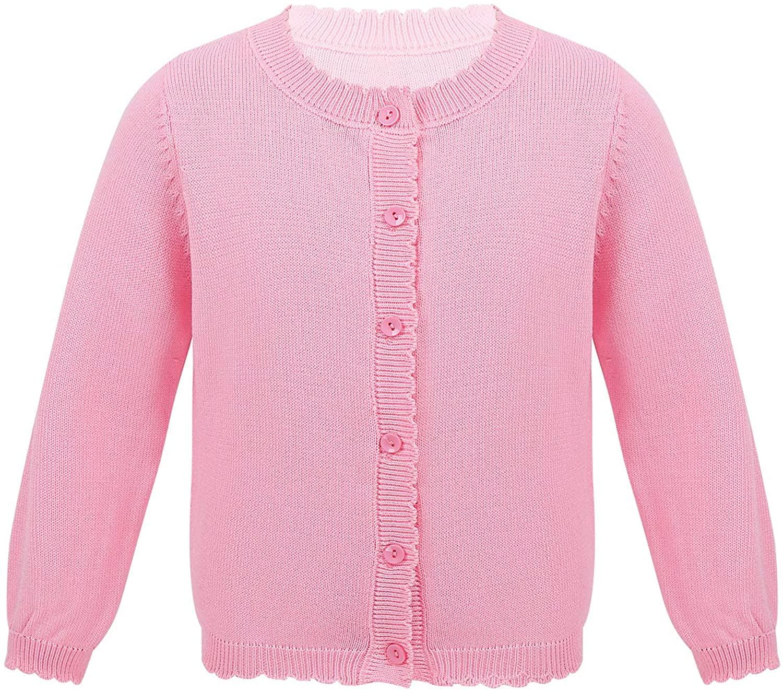 vastwit Kids Girls Knit Cardigan Shrug Ruffle Cropped Dressy Bolero Jacket Cover Up Sweater