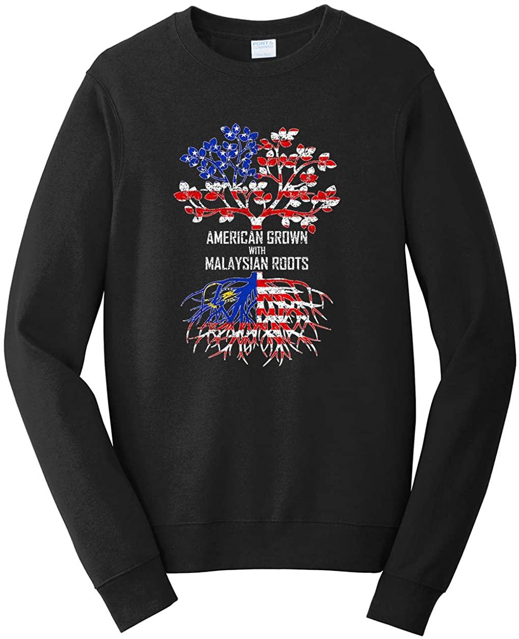 Tenacitee Unisex American Grown with Malaysian Roots Sweatshirt