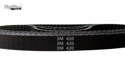 Fevas HTD 3M Timing Belt C= 420 423 426 432 Width 6/9/15mm Teeth 140 141 142 144 HTD3M synchronous 420-3M 423-3M 426-3M 432-3M - (Width: 10mm, Length: 420mm 140teeth, Number of Pcs: 10pcs)