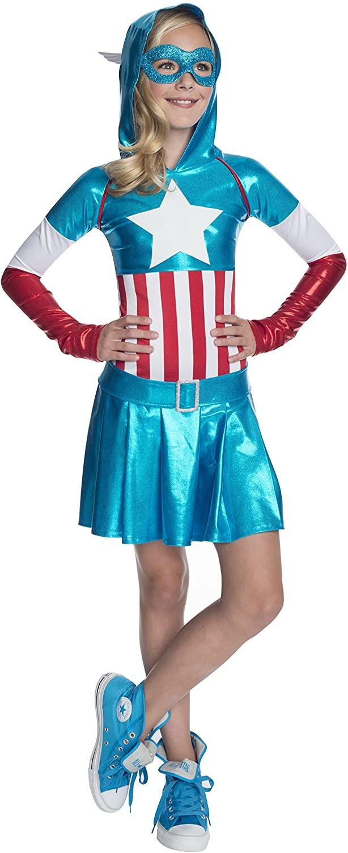 Rubies Marvel Classic Childs American Dream Hoodie Costume Dress, X-Large