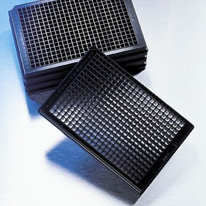 Corning Black Clear Bottom Non Sterile Low Flange Non Treated 384 Well Assay Plate, Without Lid (Case of 100)