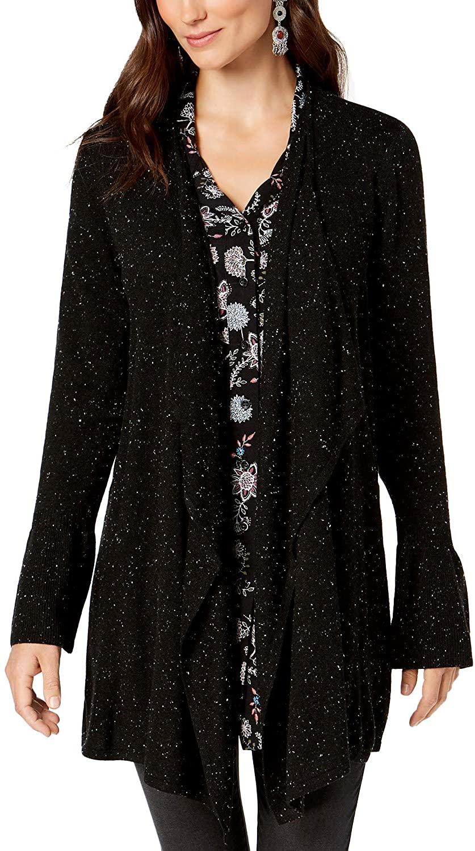 Style & Co. Womens Draped Cardigan Sweater