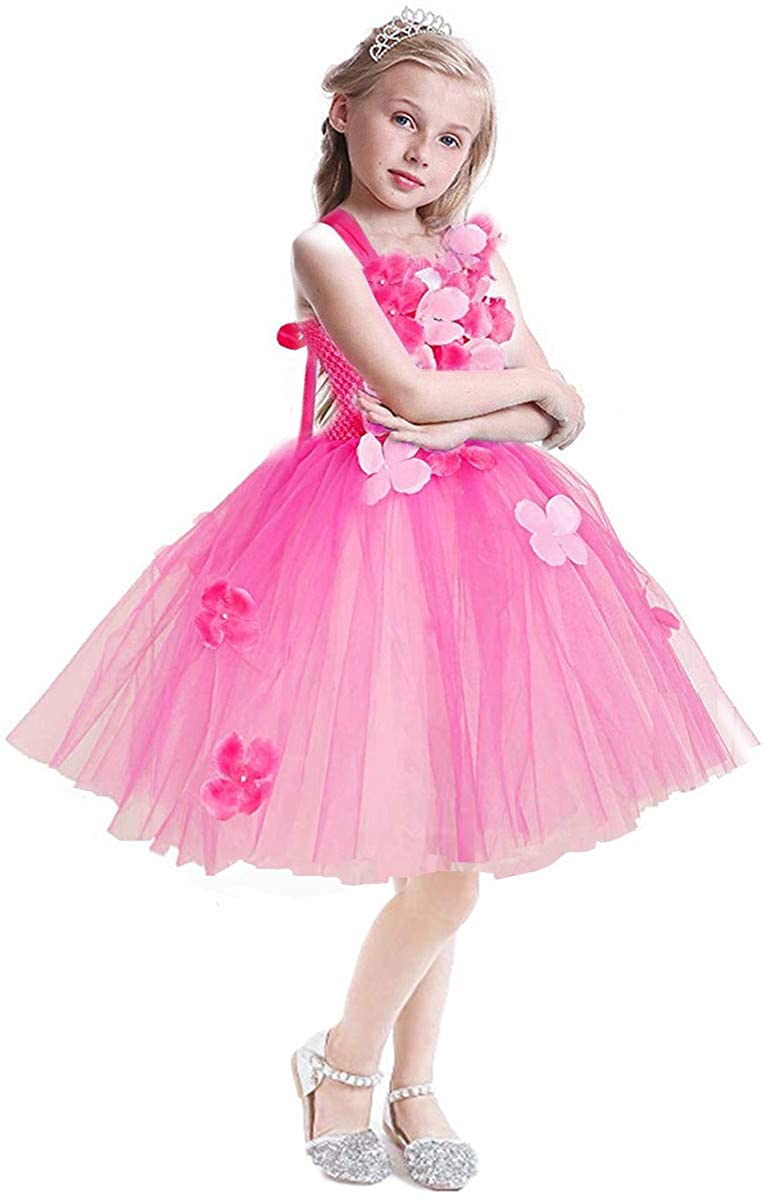 Girl Tutu Costume Flower Girls Tulle Tutu Princess Dress Pageant Dance Gown Birthday Party Halloween Wedding