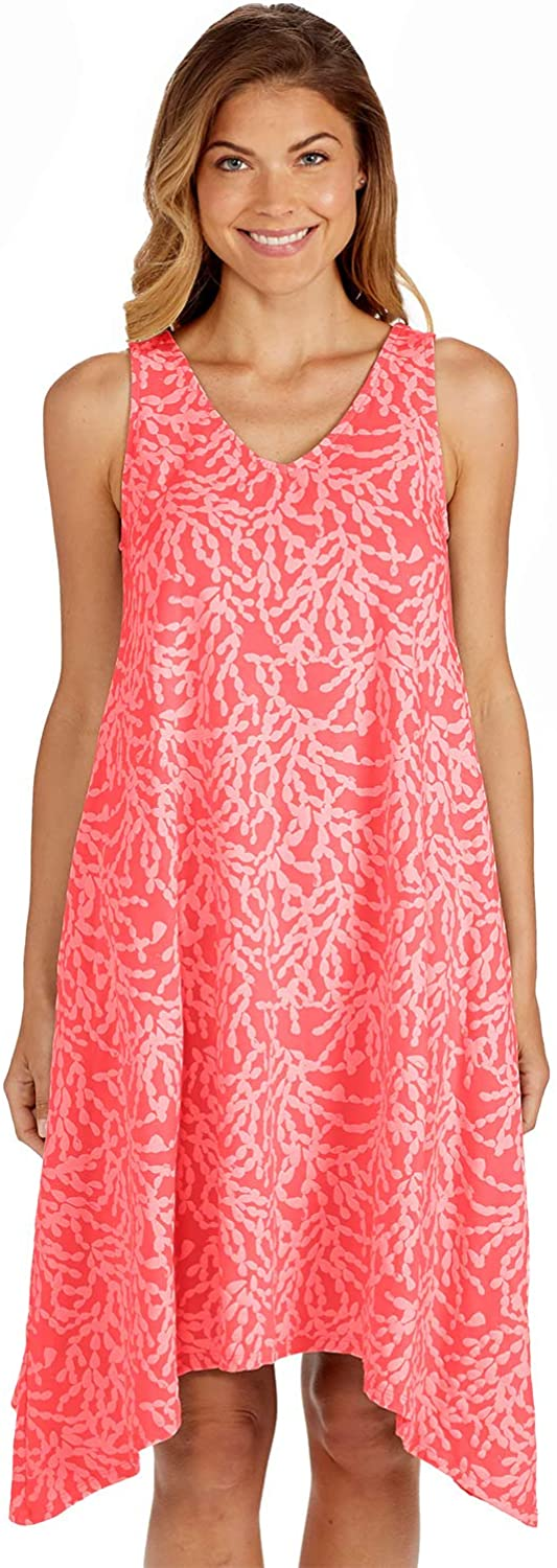 Fresh Produce Womens Comfortable Casual Summer Beach Sleeveless Tank Coral Cluster Lydia Dress