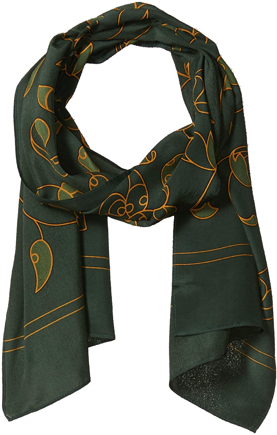 100% Silk Green Scarf. Premium Quality. Luxurious, Elegant, Understated. Perfect as upscale Christmas Holiday Gift/Present. St. / Saint Patricks/Patricks Day scarves. Scarfs for Self or as Gifts