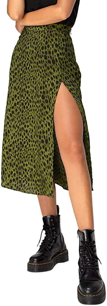 Lavany Women's Mini Skirt, Fashion Summer Sexy Open Cross Printed Half-Length Skirt