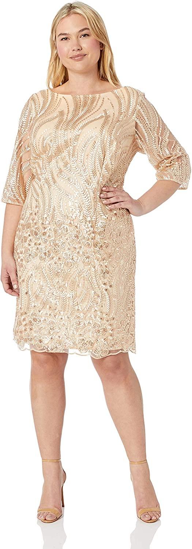 Brianna Women's Embroidered Sequin Short Dress