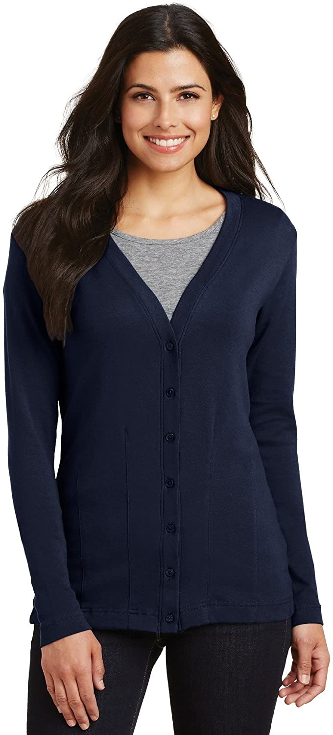 Port Authority Ladies Modern Stretch Cotton Cardigan. L515