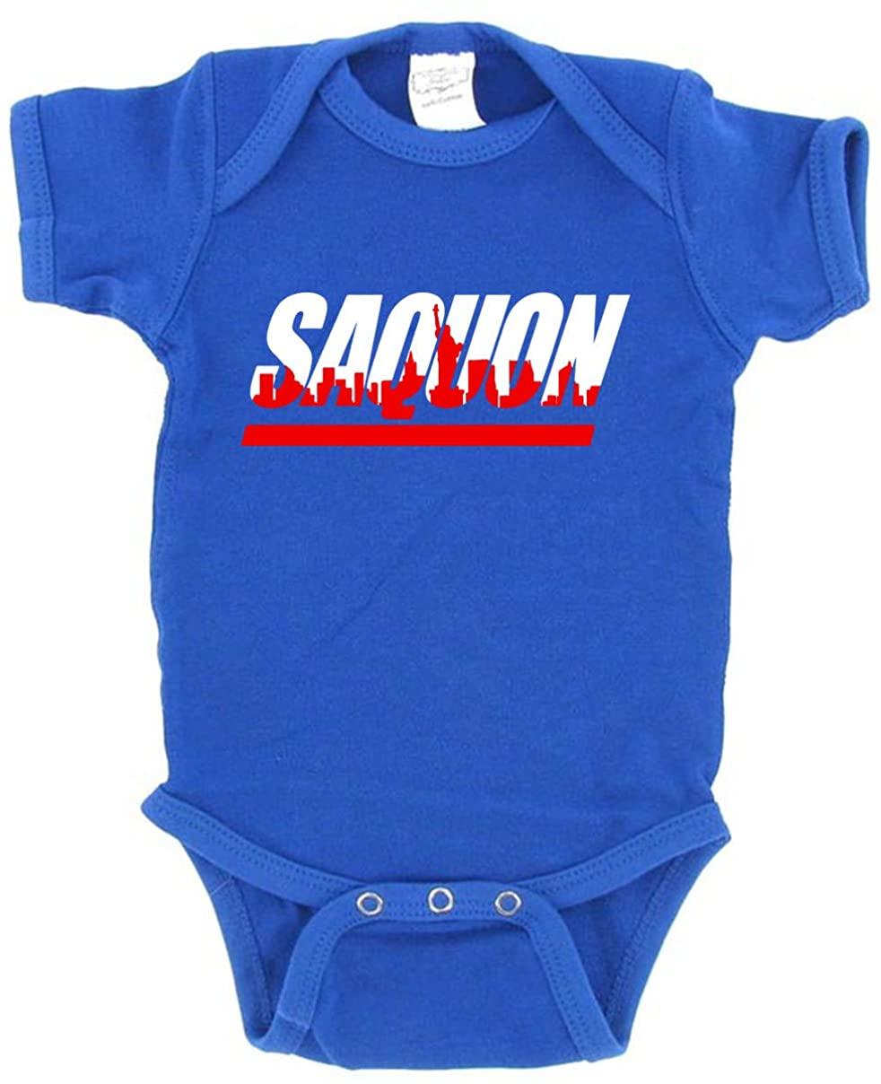 The Tune Guys Blue New York Saquon Skyline Baby 1 Piece