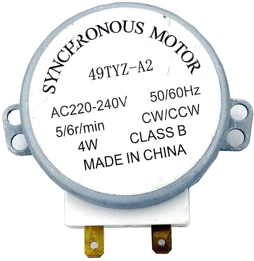 AquaMonica 1PCS Synchronous Motor 4RPM 50/60 HZ 4W Microwave Oven Turntable AC 220V-240V