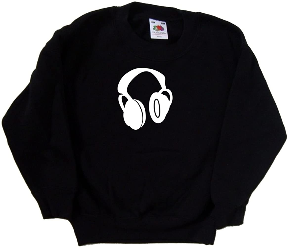 Headphones Music Black Kids Sweatshirt