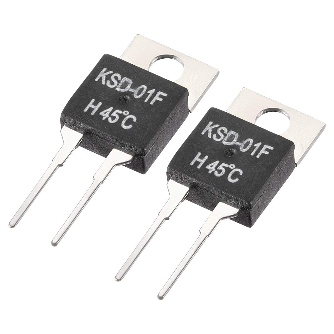 uxcell Normally Open Temperature Switch, KSD-01F Thermal Switch Thermostat Temperature Controller 45℃ N.O 2pcs
