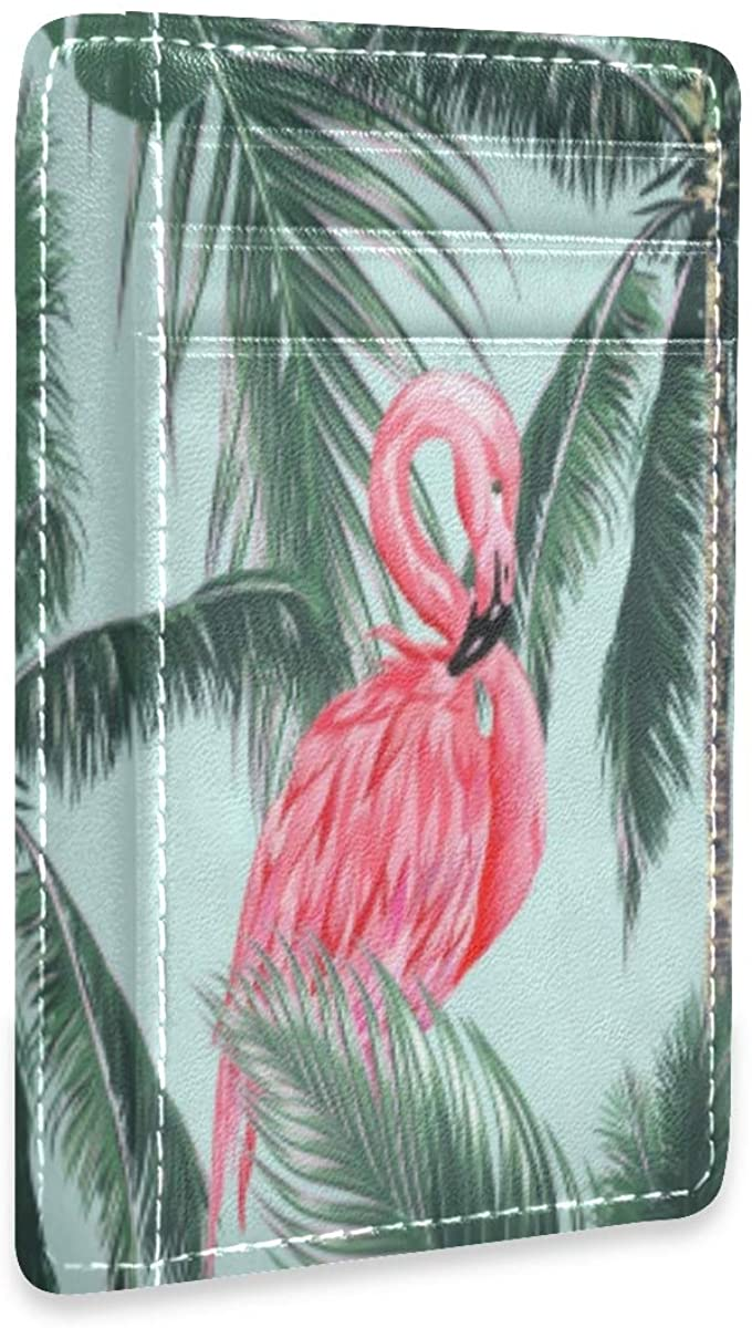 Pink Tulip Turquoise Blue Womens Mens Rfid Credit Card Holders Wallet Leather Case Organizer