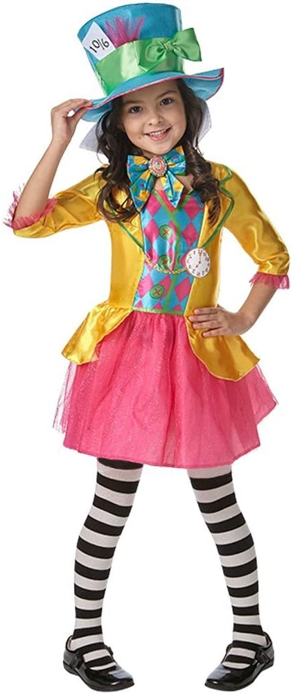 Rubie's Official Girl's Disney Alice in Wonderland Mad Hatter, Children Costume - Small - 3 - 4 Years