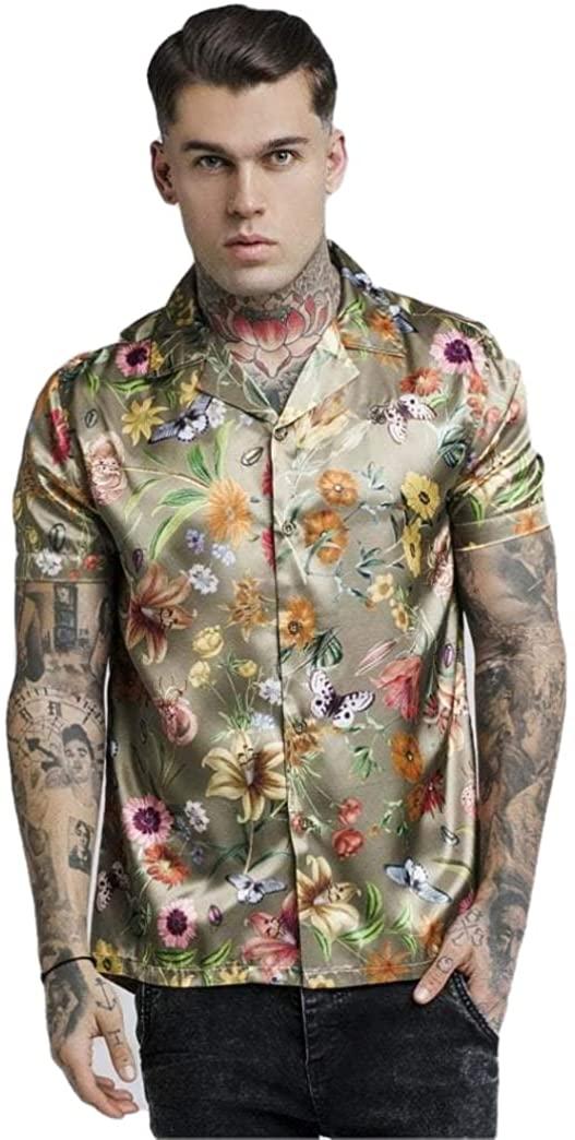 SikSilk Secret Garden Floral Printed Hawaii Shirt