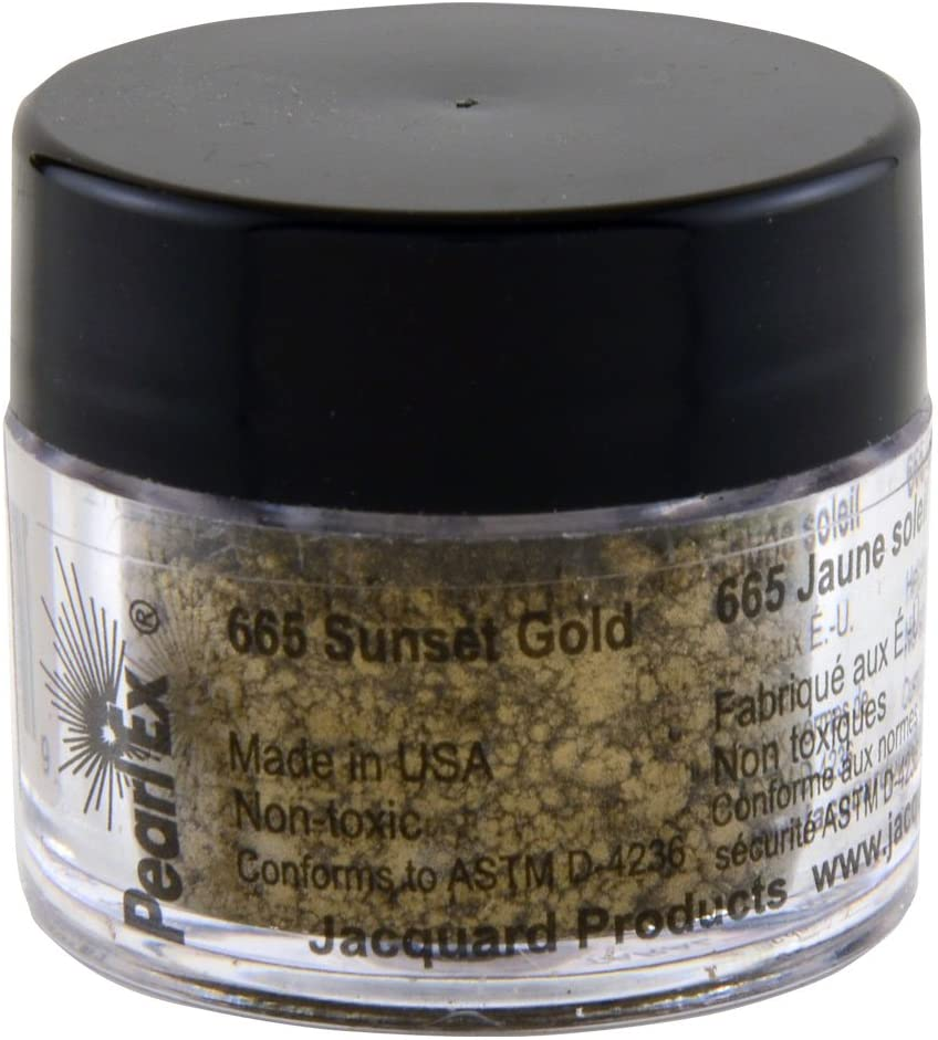 Jacquard Products Pearl Ex Powdered Pigments, 3 Grams: Metallics/Sunset Gold