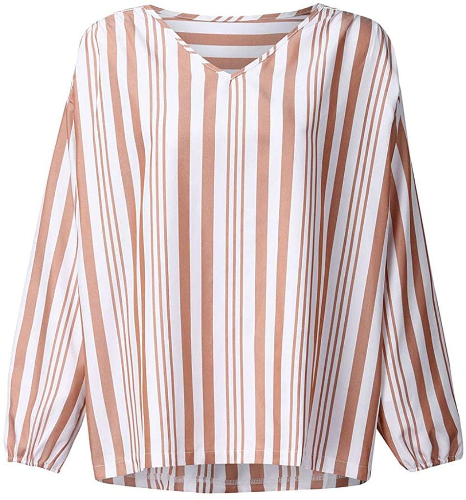ZEFOTIM Blouse Long Sleeve Shirt, Women's Printing Long Sleeve Shirt Tie Knot Casual Blouses Tops