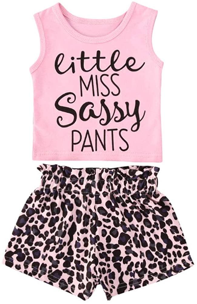 Toddler Baby Girl Shorts Set Kids Little Miss Sassy Pants Tassel Vest Top Floral Pompom Shorts Summer Outfits Clothes