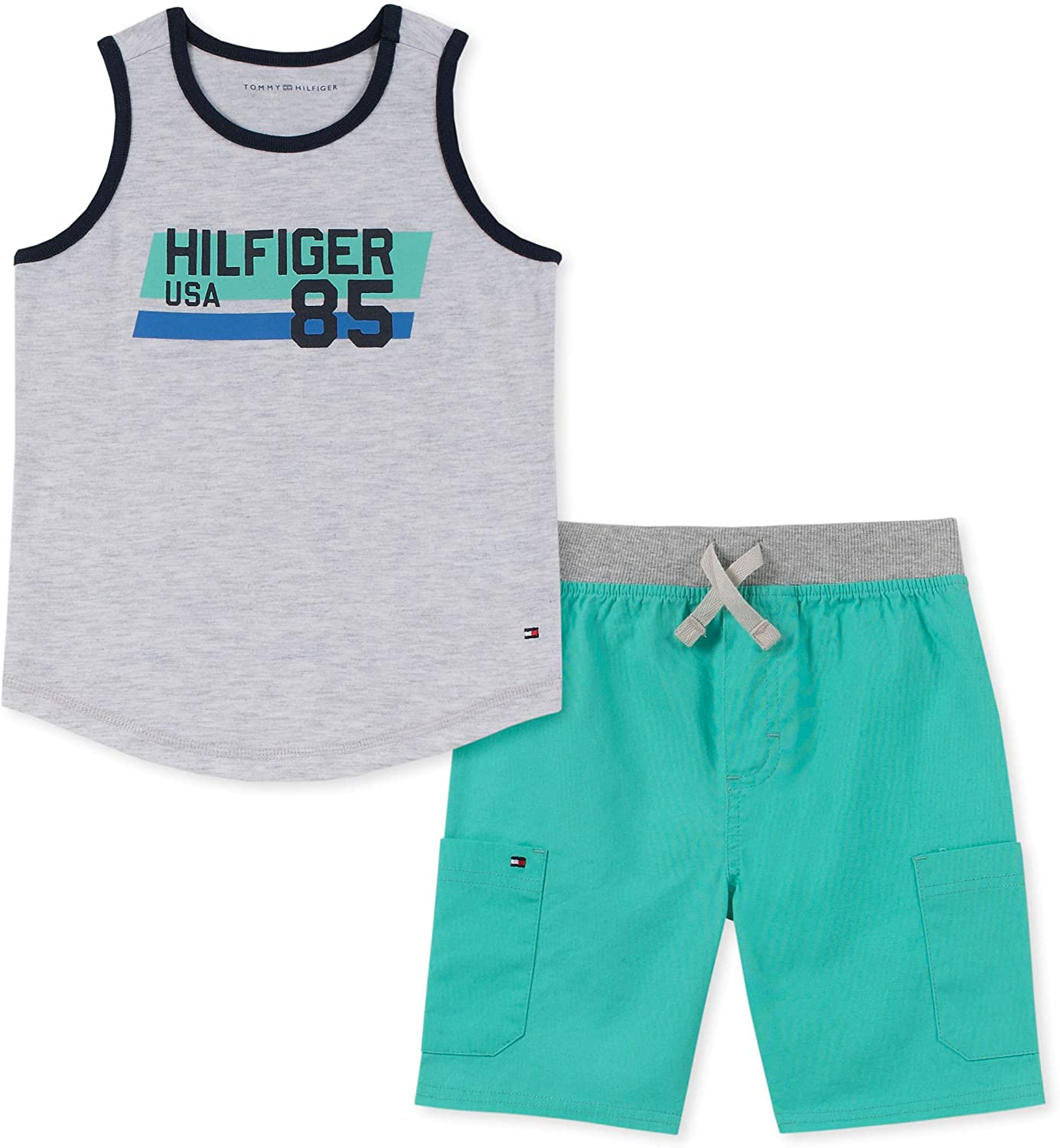Tommy Hilfiger Baby Boys' 2 Pieces Tank Top Shorts Set