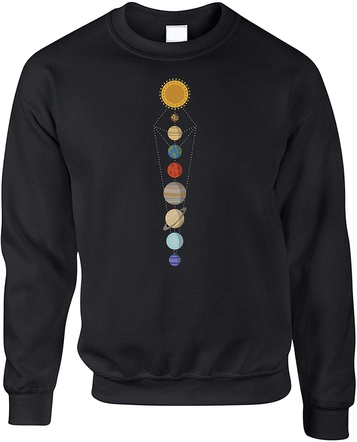 Cool Nerdy Jumper Geometric Solar System Space Art