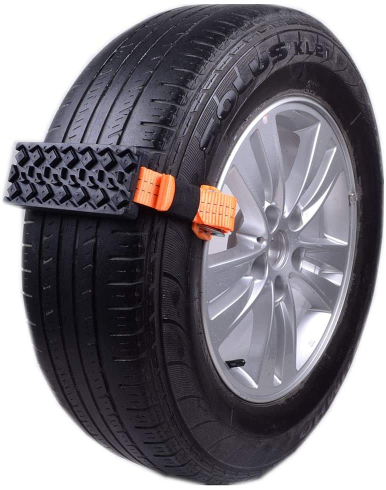 Feng Tire Traction Device Snow, Mud and Sand, Set of 2 - for Oversized Trucks/Suvs, Easy to Install - A Snow Chain, Snow Tire and Snow Traction Mat Alternative