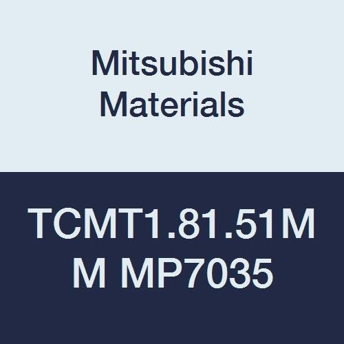 Mitsubishi Materials TCMT1.81.51MM MP7035 PVD Coated Carbide TC Type Positive Turning Insert with Hole, Triangular, 0.016