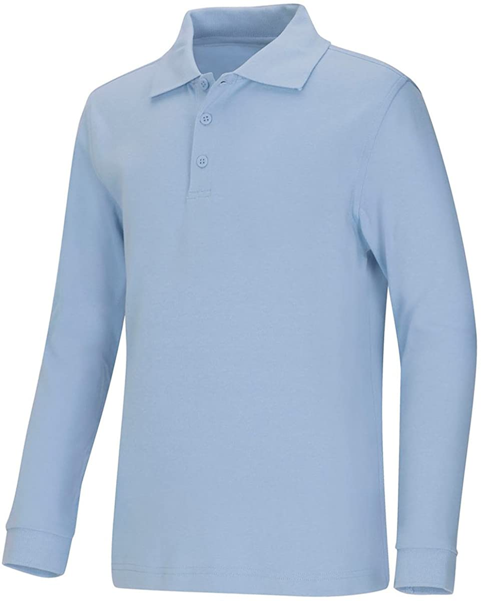 Classroom Uniforms Long Sleeve Interlock Polo Shirt-Youth Sizes Assorted Colors