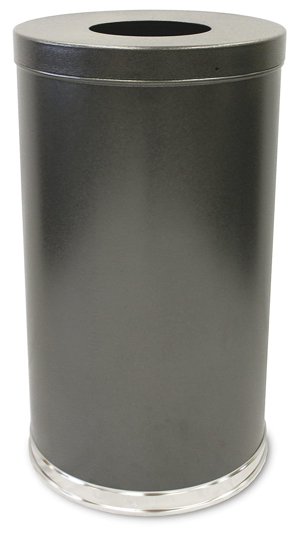 Witt Industries 35FTSVN Steel 35-Gallon Open Top Waste Receptacle with Plastic Liner, Round, 18