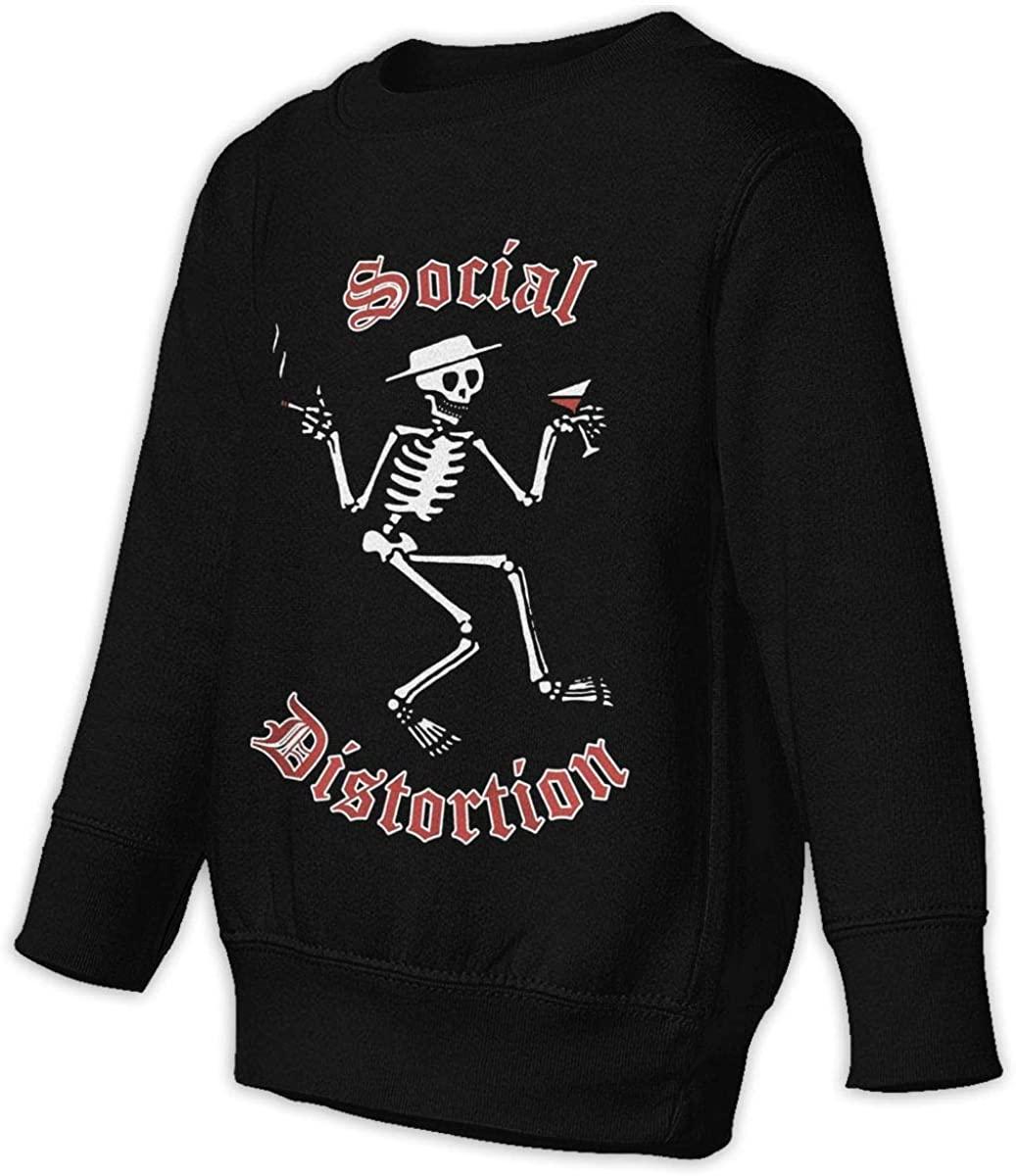 CZXVAFV Social Distortion Skelly Logo Unisex Sweatshirt Youth Boy and Girls Pullover Sweatshirt