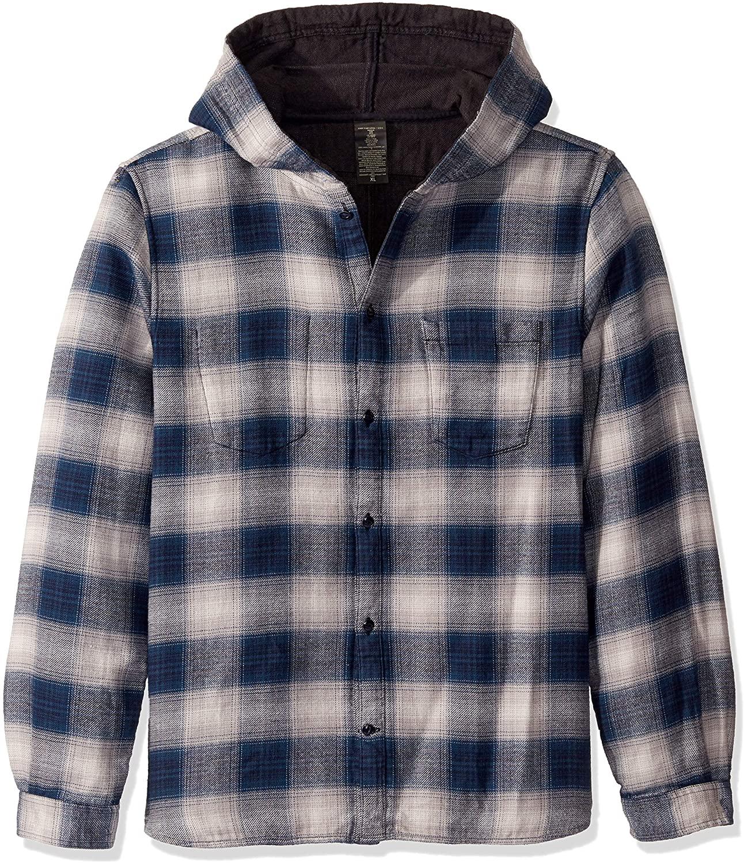 John Varvatos Star USA Men's Grayson Hooded Ls Reversible Sport Shirt