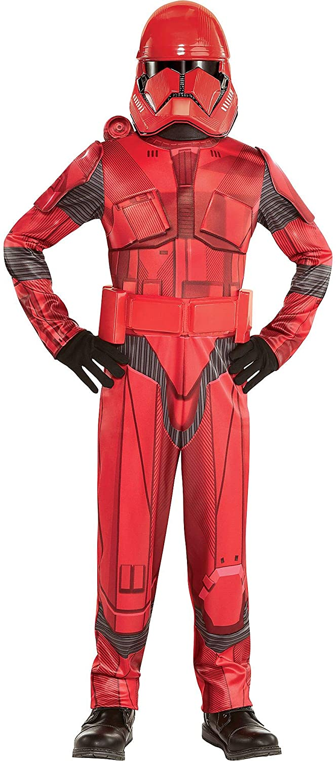 Party City Star Wars 9: The Rise of Skywalker Sith Trooper Costume for Children, Size Small, Includes Jumpsuit and Mask