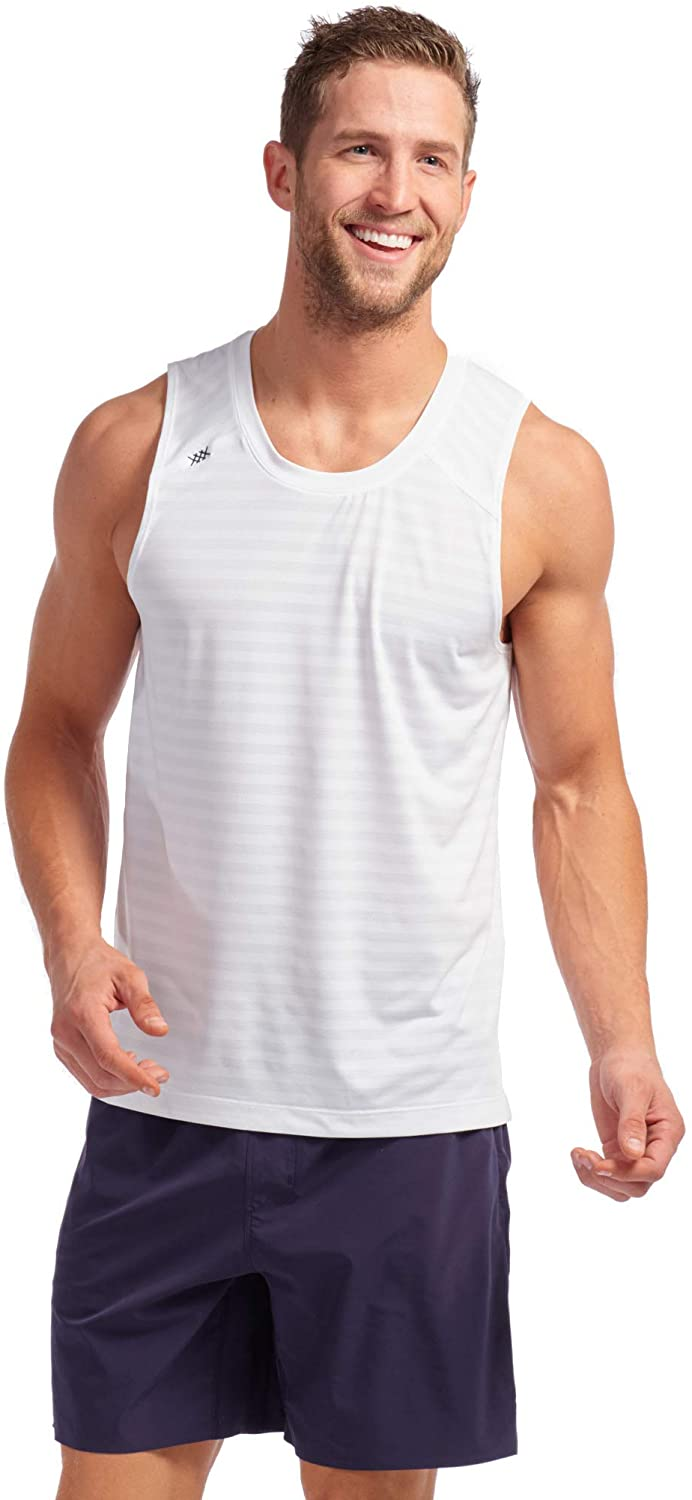 Rhone Swift Tank Workout Shirts for Men with Anti-Odor, Moisture Wicking Technology