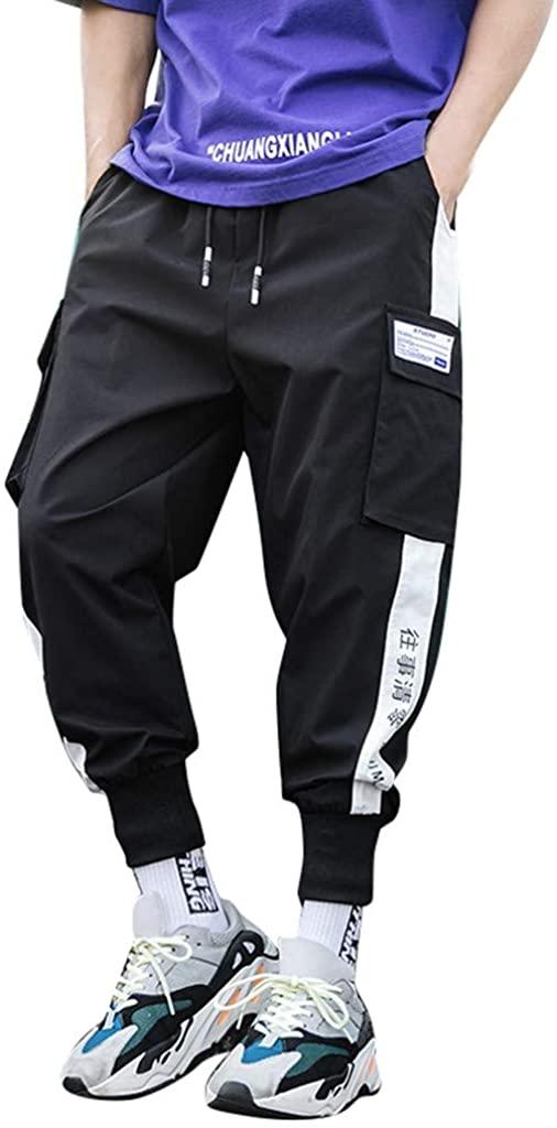 Landscap Men's Joggers Harem Pants Stylish Hip Hop Drawstring Slim Fit Pants Multi-Pockets Outdoor Cool Pants