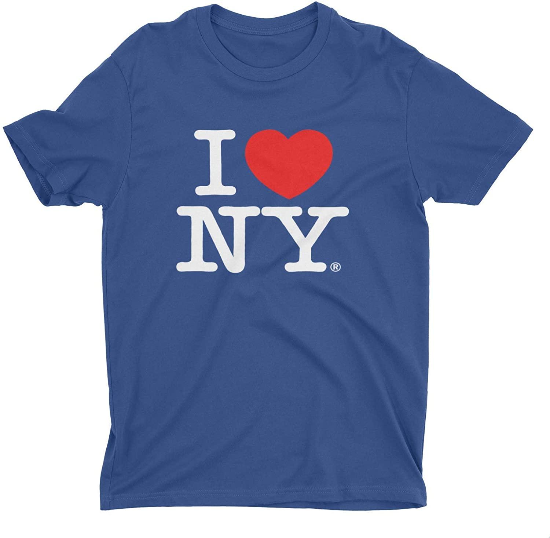 I Love NY New York Kids Short Sleeve Screen Print Heart T-Shirt Navy
