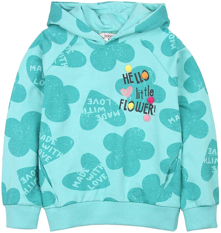 Boboli Girl's Sweatshirt in Butterfly and Heart Print, Sizes 4-16