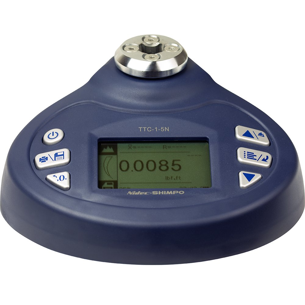 Shimpo TTC-I-10 Torque Tool Tester with 10 N-m (7.4'-lb) Capacity, LCD Display