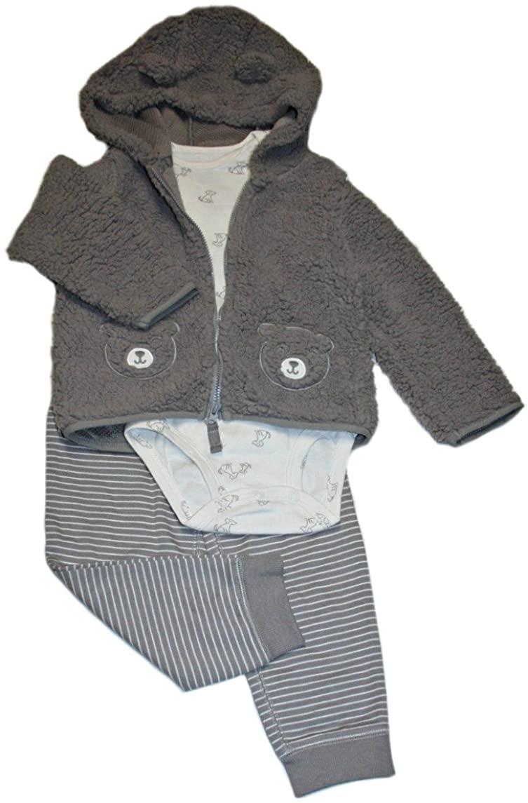 Carter's Baby Boys' 3 Piece Bear Little Jacket Set
