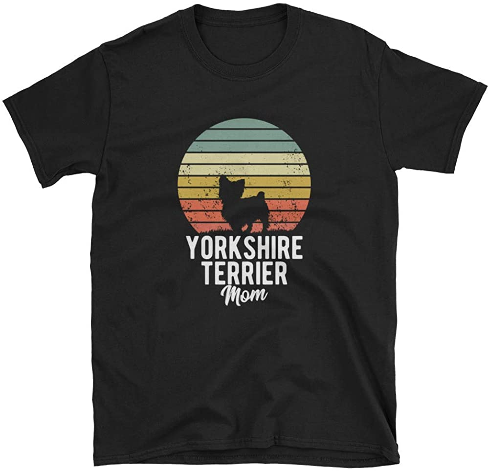 Yorkshire Terrier Mom Retro Sunset Dog Lover Short-Sleeve Unisex T-Shirt
