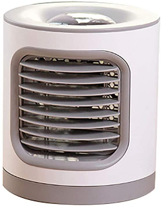 Personal Air Cooler, Household Air Conditioner Mini USB Fan Air Purifier, 180 Degree Automatic Shaking Head + Three Adjustable Wind Speeds + Low Noise (Gray)