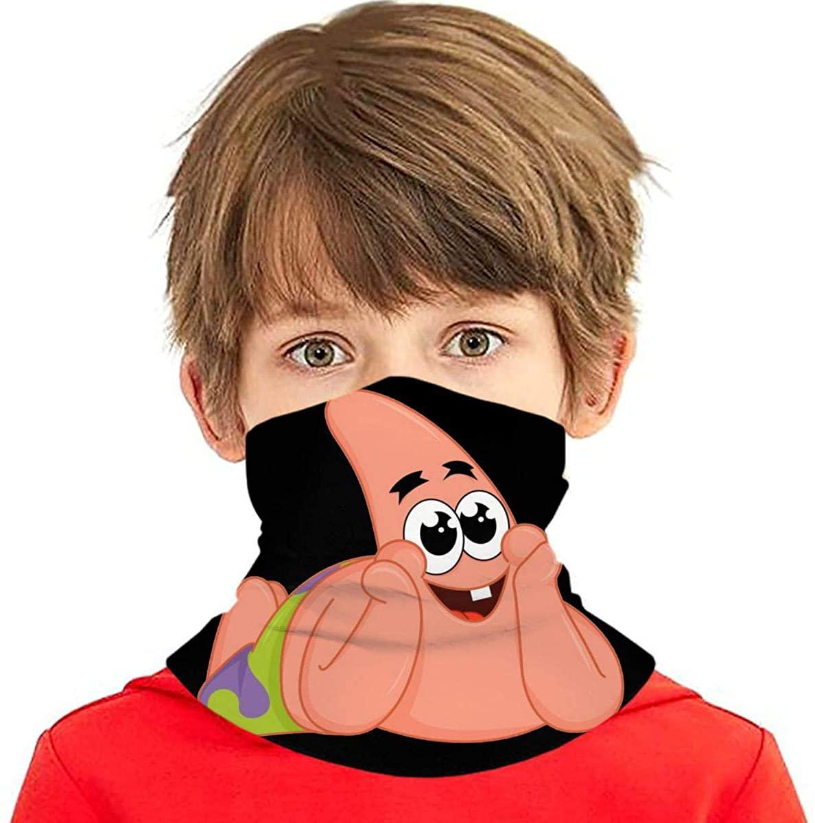 Patrick Star Kids Bandana Ear Loops Neck Gaiter Scarf Dust Uv Protection For Boys Girls