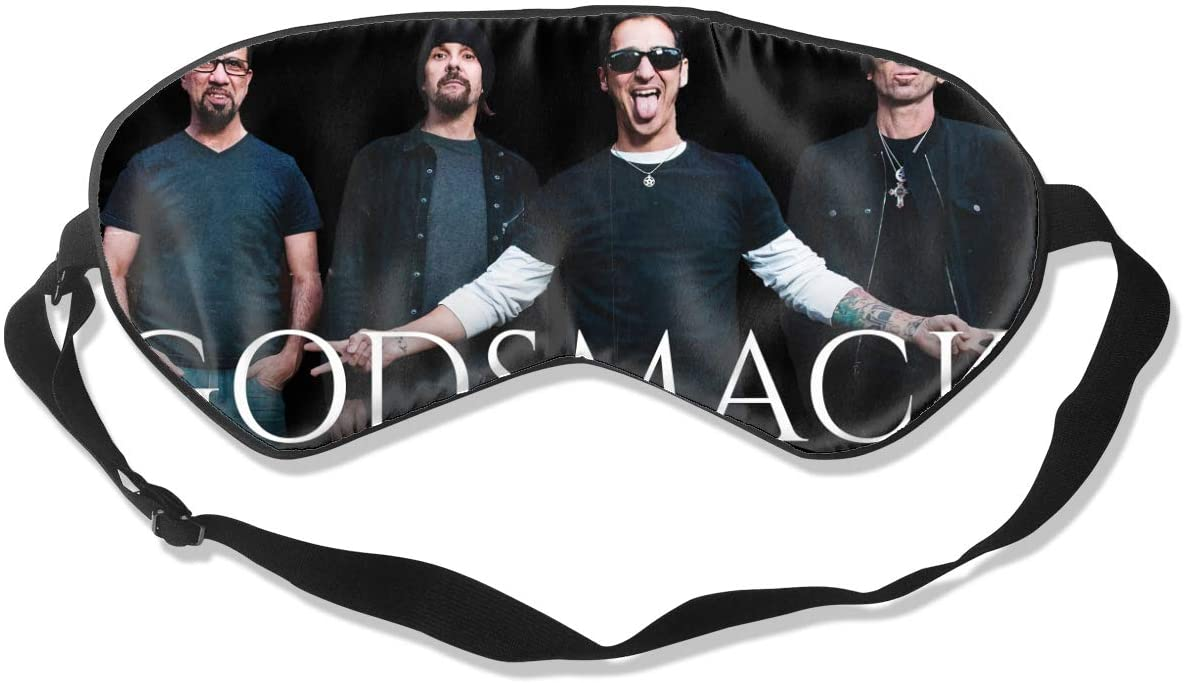 8rwwpJgr Godsmack Unisex Fashion Sleep Eye Mask Soft Comfortable with Eye Mask Adjustable Headband