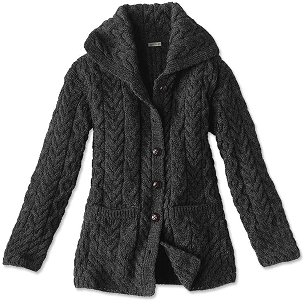 Orvis Women's Cable-Detailed Irish Wool Cardigan