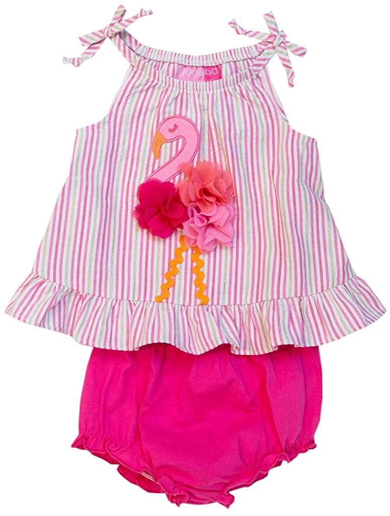 Good Lad Newborn/Infant Girls Sundress with Flamingo Applque