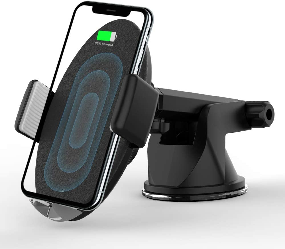 Smart Wireless Car Charger, Fast Wireless Car Charger, Auto-Clamping Car Vent Cell Phone Holder, 10W Compatible For Samsung GalaxyS9/S9+/S8/S8+/Note8, 7.5W Compatible For iPhone Xs Max/Xs/XR/X/8/8Plus