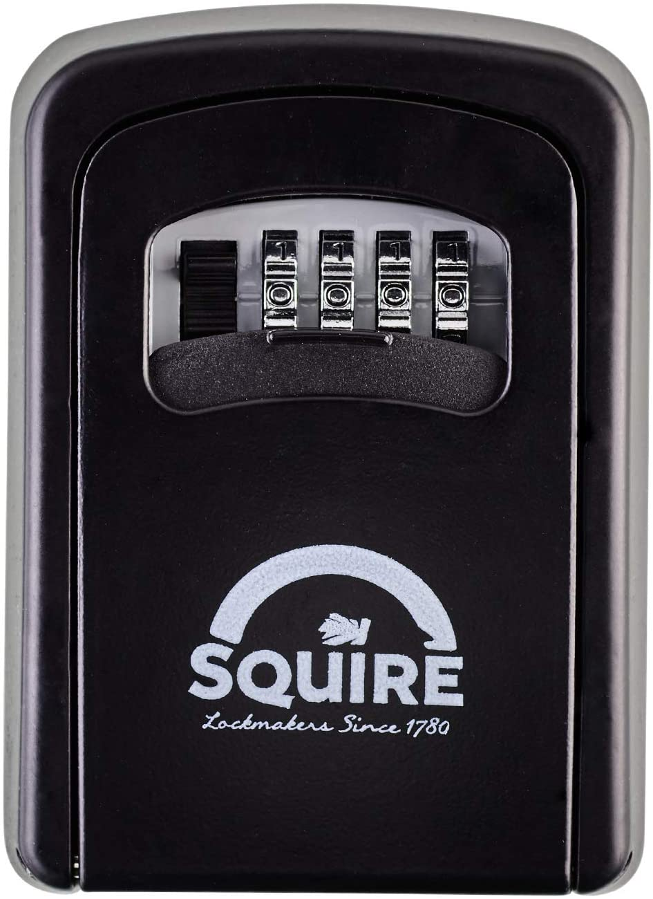 Squire Key Safe. High Security Key Lock Box for Internal and External Use. Weatherproof Wall-Mounted Recodable Key Storage Box (Key Keep 1)